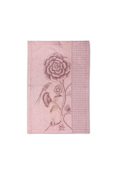 Spring to Life Lacy Tea Towel Pink