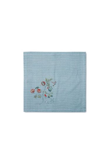 Spring to Life Lacy Tea Towel Blue