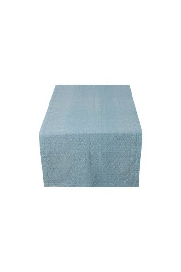 Spring to Life Table Runner Lacy Blue