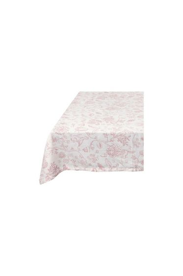 Tischtuch Spring to Life Weiß Rosa