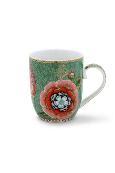 Petit mug Flo Spring to Life fleur Vert
