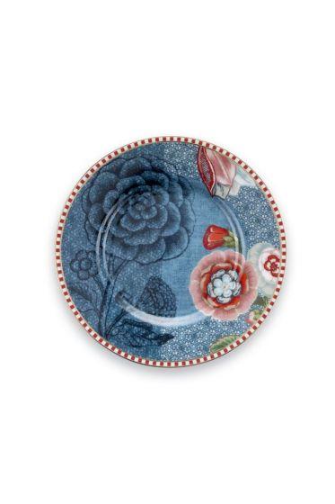 Spring to Life Petit Four Teller 12 cm Blau