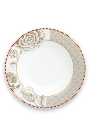 Spring to Life Soup Plate 21,5 cm off white