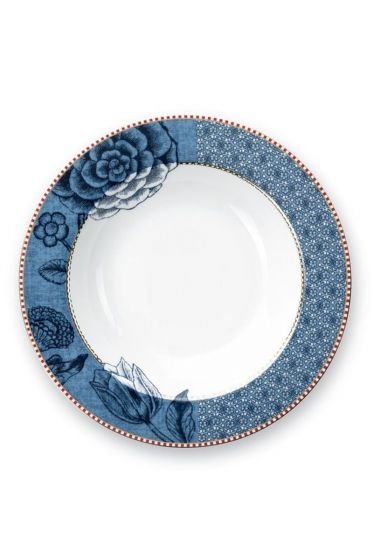 Spring to Life Soup Plate 21,5 cm blue