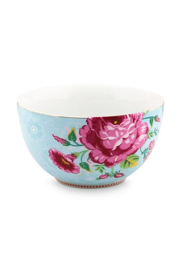 Floral Bowl Rose 18 cm Blue