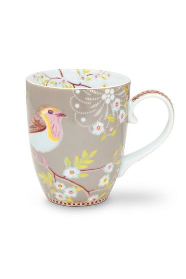 Floral Tasse groß Early Bird Khaki