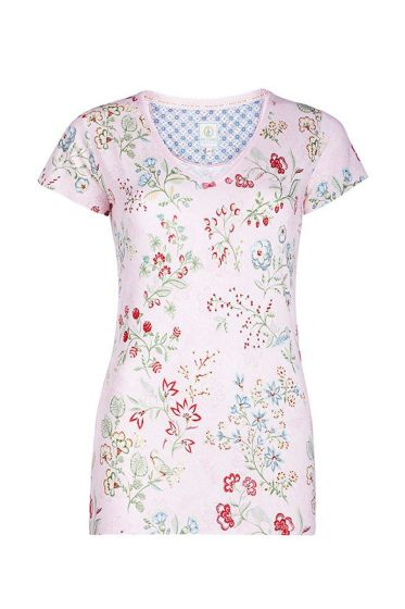 Short sleeve top Jaipur Flower pink