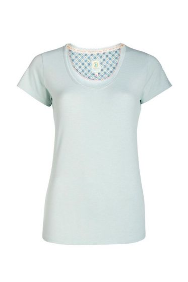 Round neck T-shirt Stripers blue