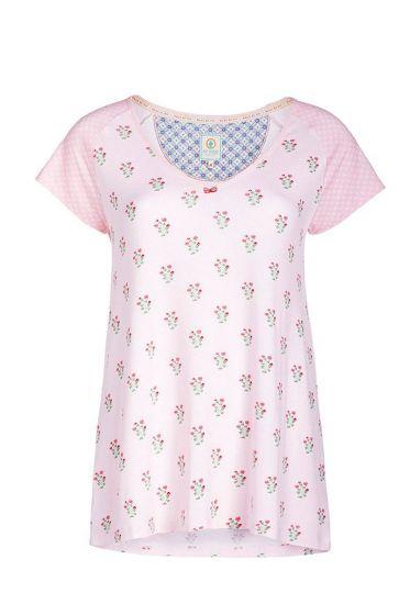 T-shirt Rundhalsausschnitt Upsy Daisy rosa