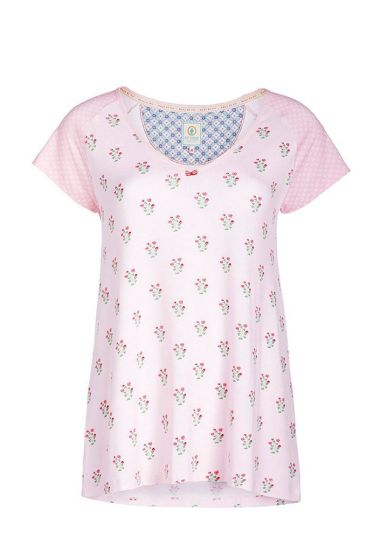 Round neck T-shirt Upsy Daisy pink