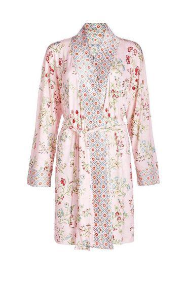 Kimono lange mouwen Jaipur Flower roze