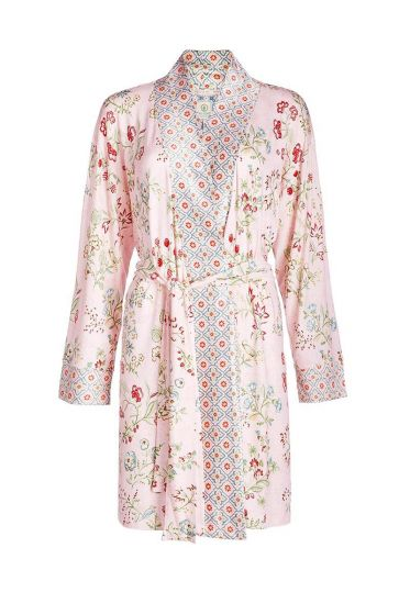 Kimono long sleeve Jaipur Flower pink