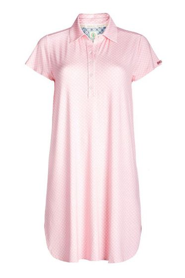 Short sleeve nightdress Leaf Me pink