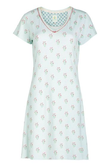 Short sleeve nightdress Upsy Daisy blue