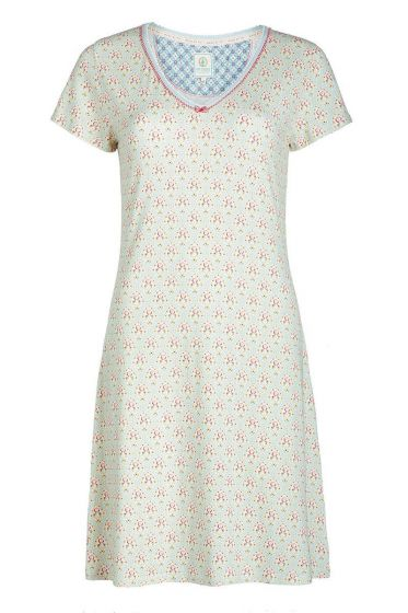 Short sleeve nightdress Mumbai Heart blue