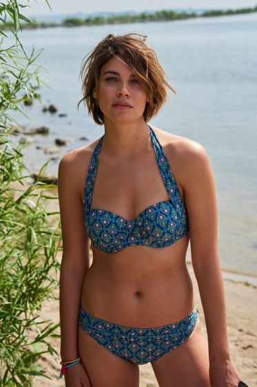 Underwire bikini top Mumbai Heart blue