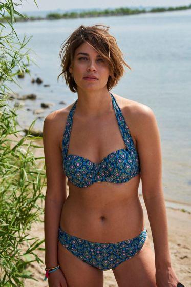 Mid-waist Bikini Bottom Mumbai Heart blue