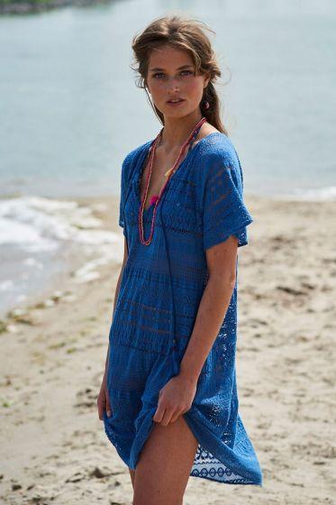 Tunik Crochet blau