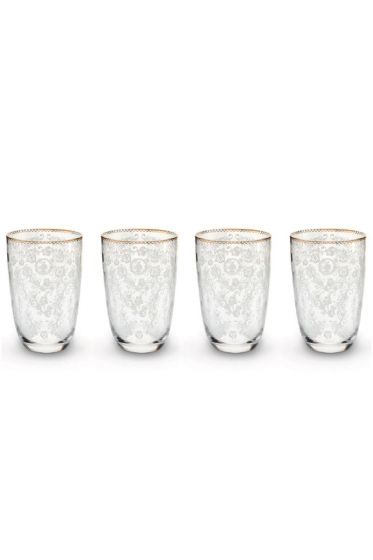 Floral Set/4 Longdrink Glasses