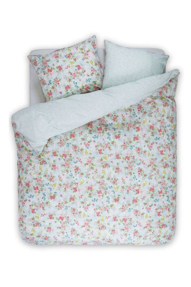 Duvet cover Chinese Rose Bouquet white