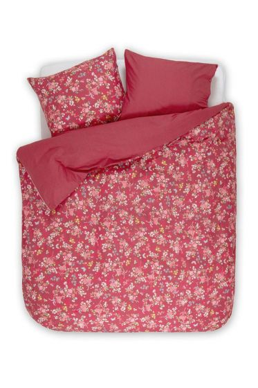 Duvet cover Chinese Rose Bouquet red