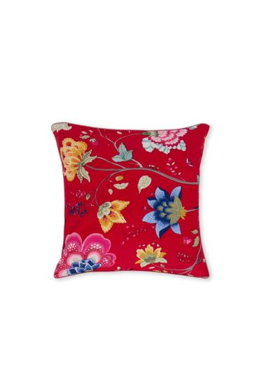 Cushion square Floral Fantasy red