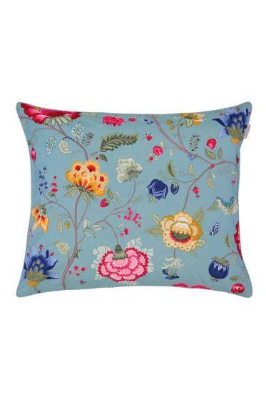 Kussensloop Floral Fantasy oceaanblauw