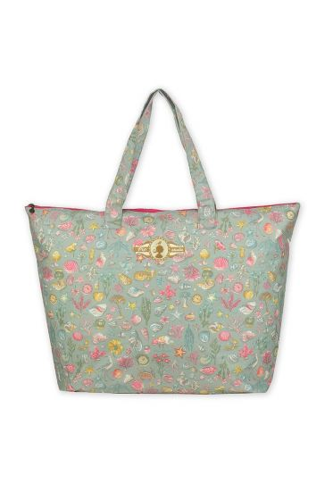Pip Classic Beachbag Little Sea Groen