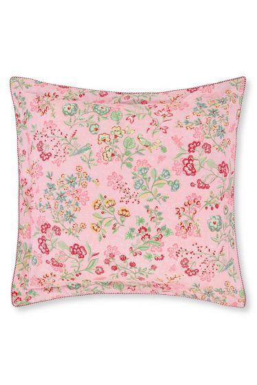 Zierkissen quadratisch Jaipur Flower rosa