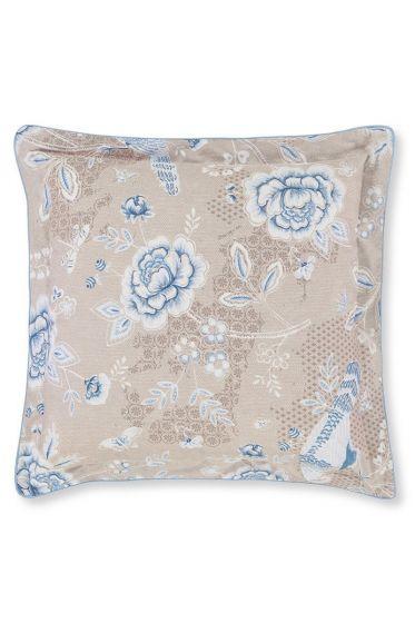 Cushion Indian Roses Square Khaki