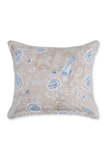Pillowcase Indian Roses Khaki
