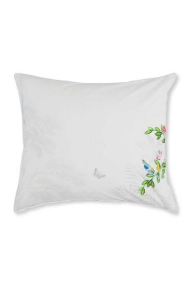 Pillowcase Indian Palms White