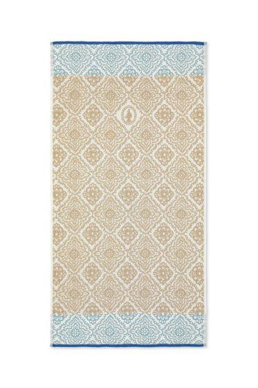 Bath towel Jacquard Check Khaki 55x100 cm