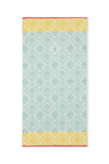 Bath towel Jacquard Check Light blue 55x100 cm