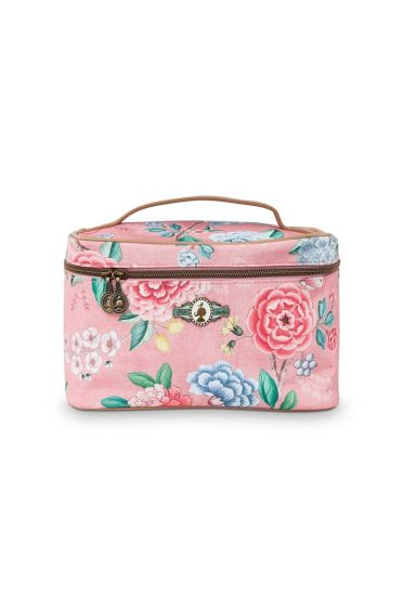 Beautycase medium Floral good morning roze