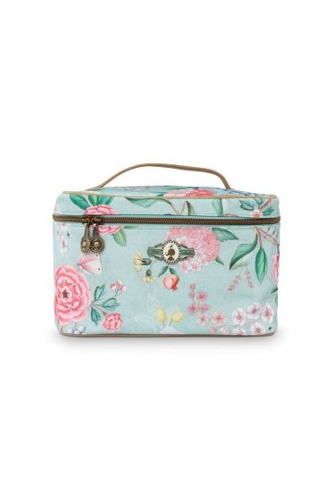 Beautycase medium Floral good morning blauw
