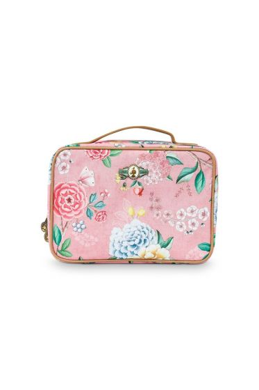 Beautycase groß Floral Good Morning Rosa