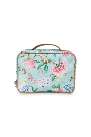 Beauty Case Square Large Floral Good Morning Blue