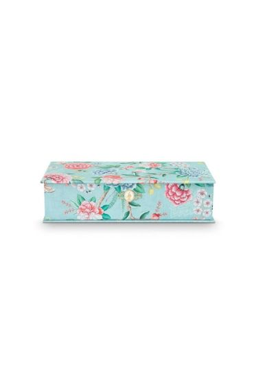 Storage Box Large Floral Good Morning Blue