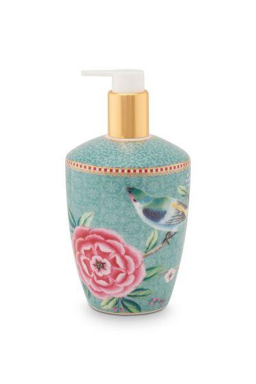 Soap Dispenser Floral Good Morning  Blue