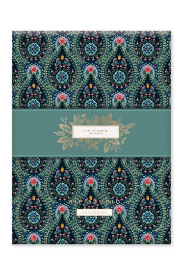 Address Book A5 Moon Delight Blue