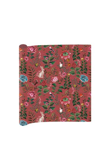 2 sheets of pink Telling Tales wrapping paper