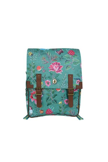 Telling Tales blue backpack with buckle