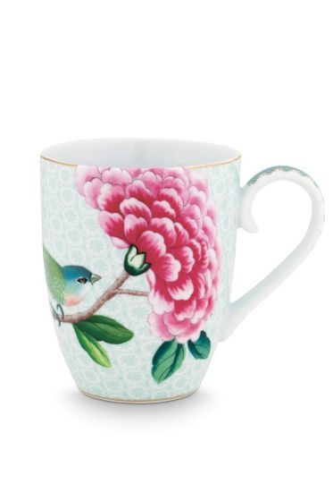 Blushing Birds Tasse groß weiß
