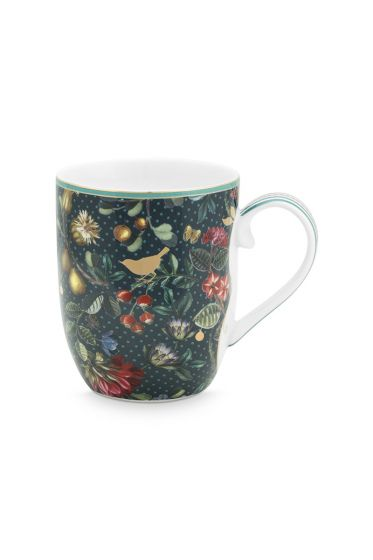 Winter Wonderland Mug Small Dark Blue