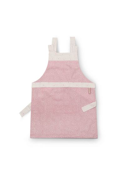 Apron Dotted Flower Pink