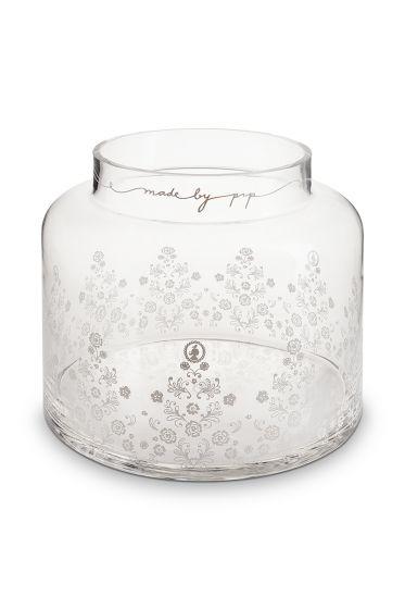 Floral glazen vaas 21,5cm