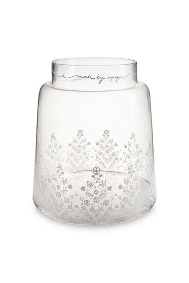 Clear Glass Vase Floral 30.5cm