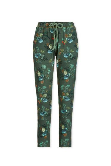 Trousers Long Leafy Stitch Green