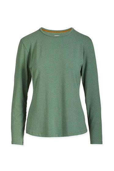 Top Long Sleeve Green Melee